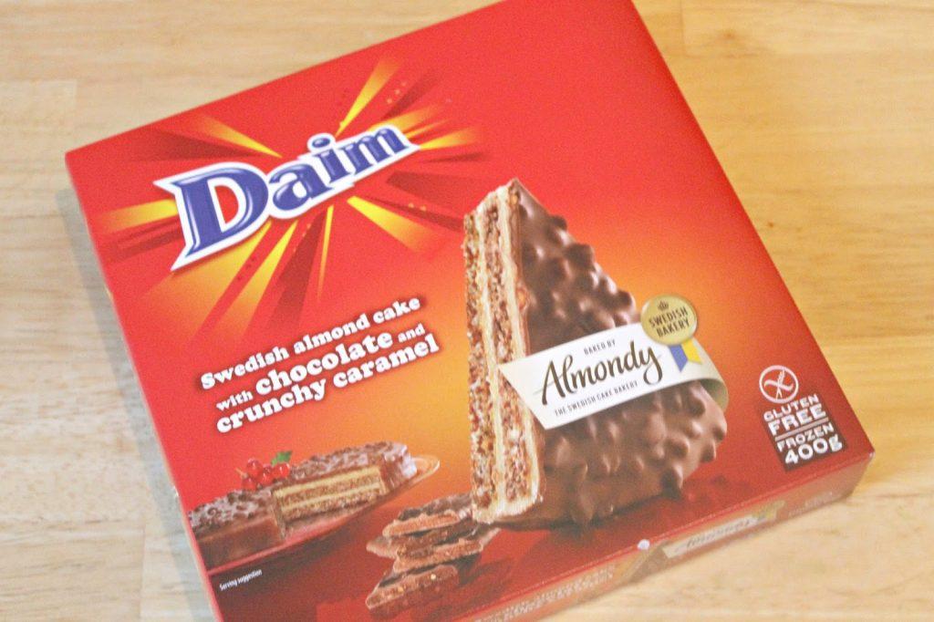 daim taart chocolade amandel karamel ikea
