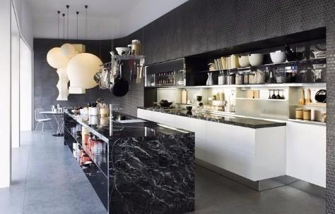 keukeneiland in natuursteen