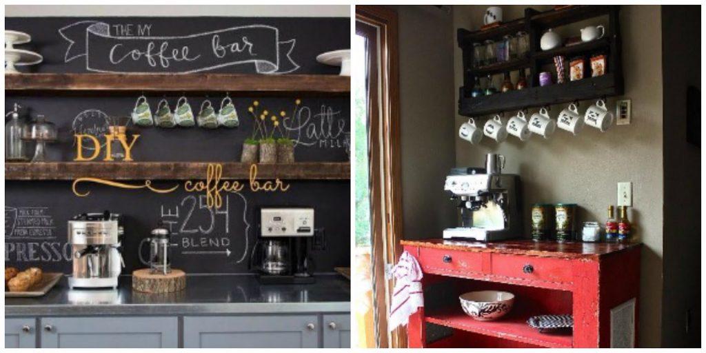 koffiebar in de keuken