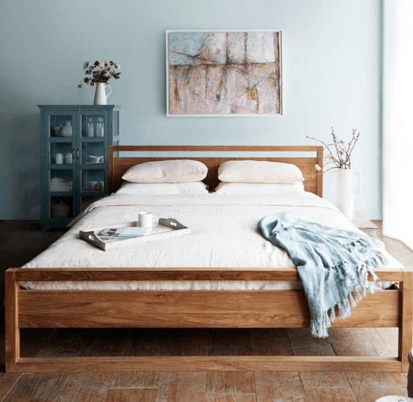 ethnicraft frame bed