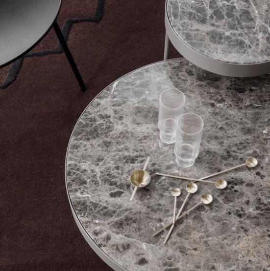 ferm living marble bijzettafel