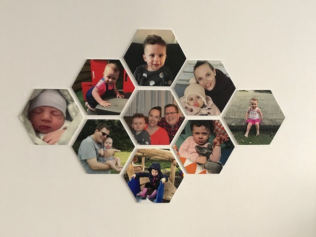 hexagon fotocollage