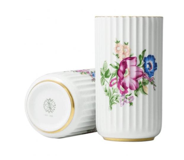 lyngby porcelæn floral decoration vaas