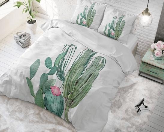sleeptime elegance cactus marble dekbedovertrek