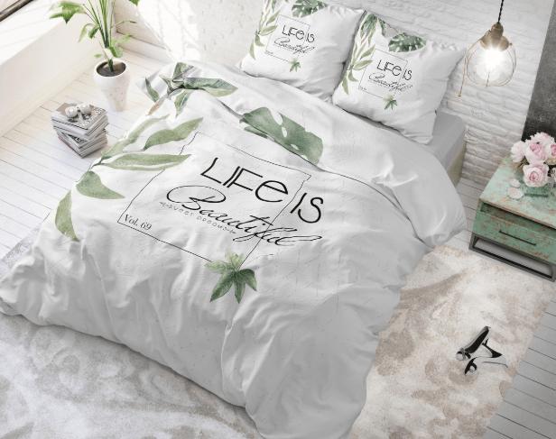 sleeptime life is green dekbedovertrek