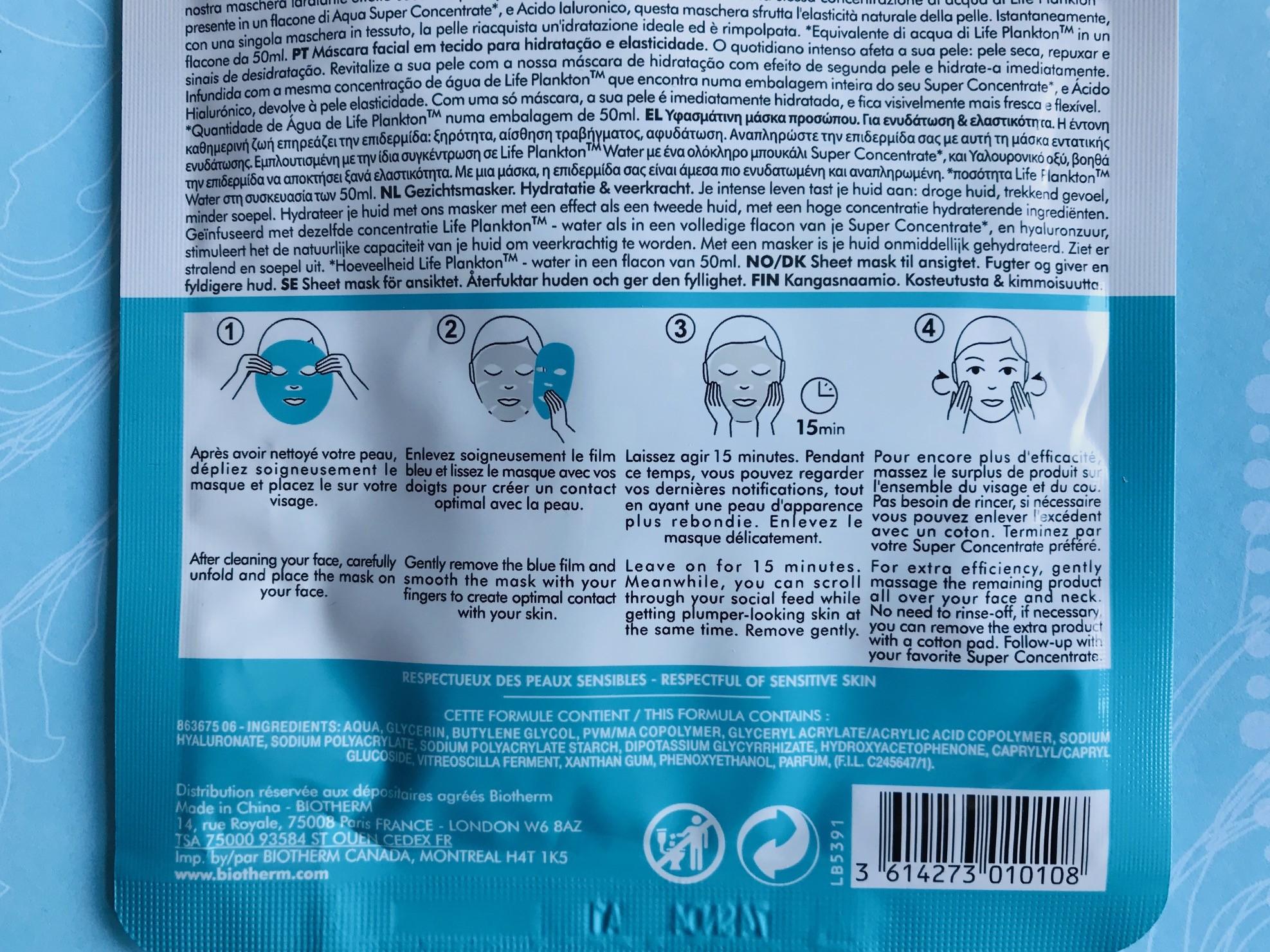 biotherm aqua bounce mask