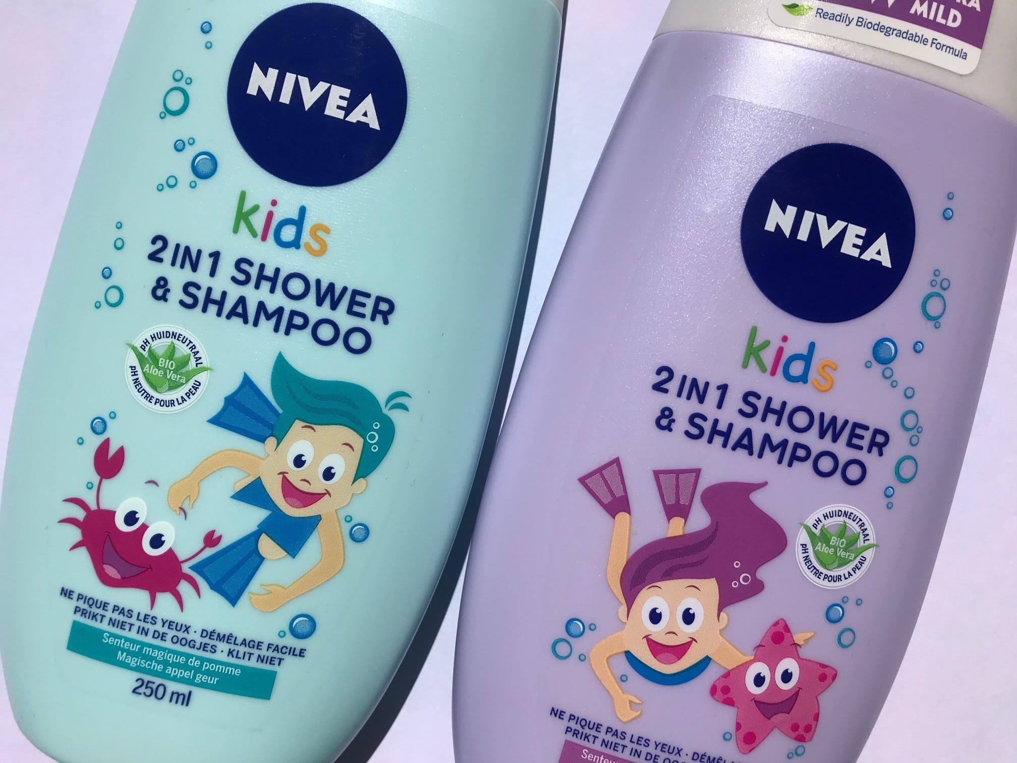 nivea kids 2 in 1 douchegel shampoo
