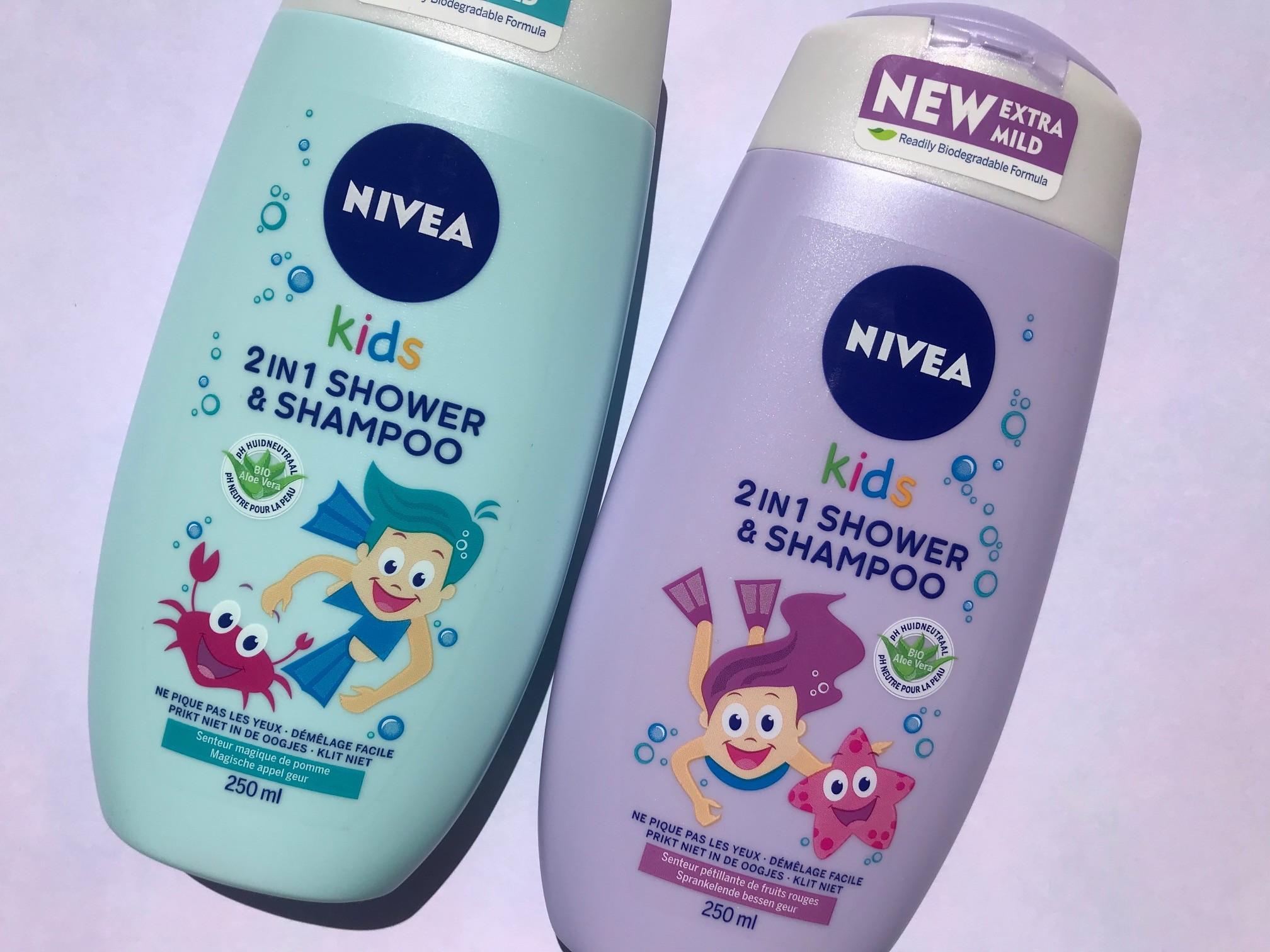 nivea kids 2-in-1 shower shampoo