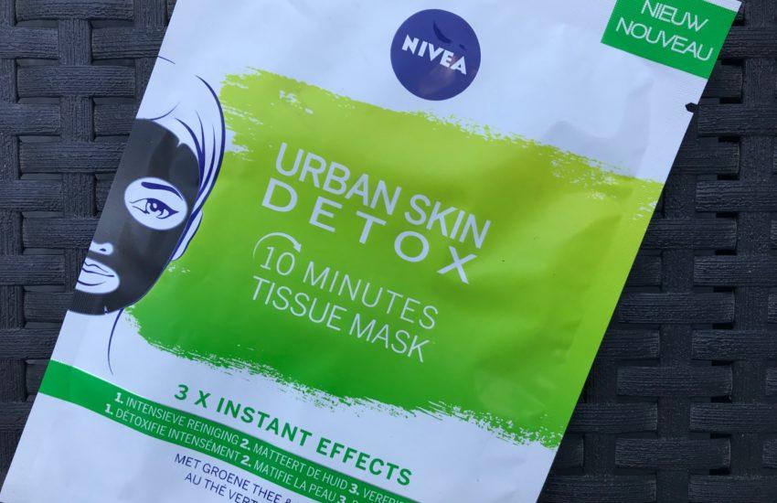 nivea urban skin detox 10 minutes tissue mask