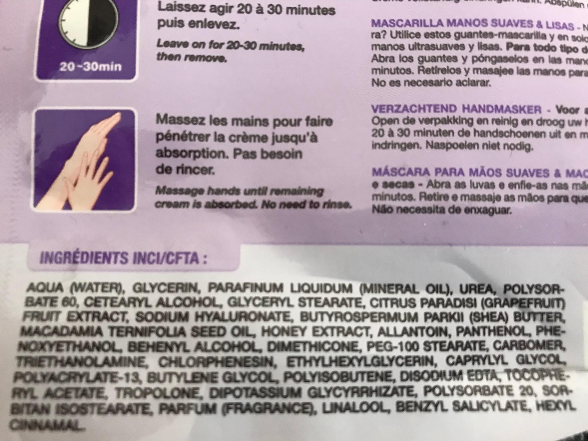 qiriness hand mask ingredienten