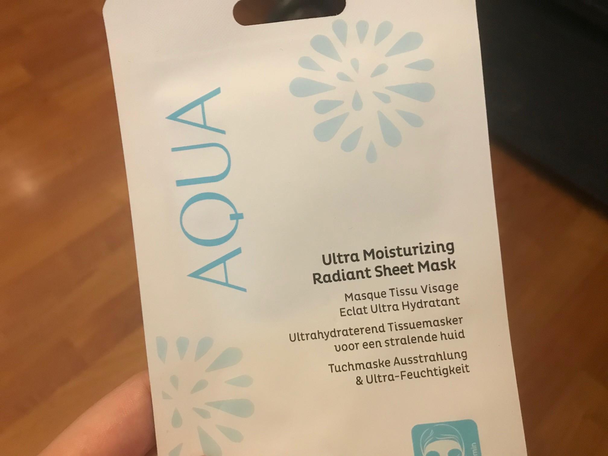 aqua ultrahydraterend tissuemasker