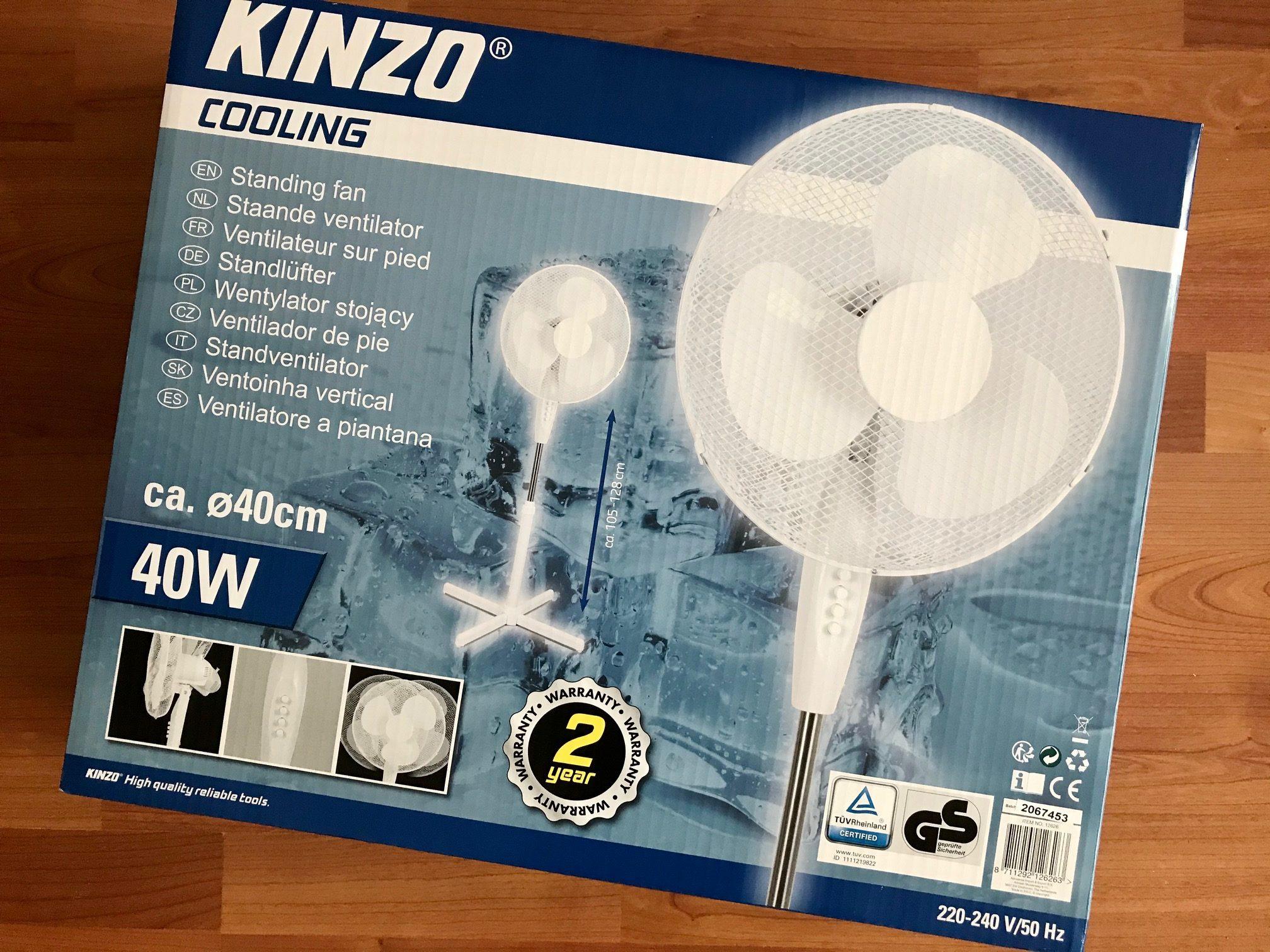kinzo cooling ventilator