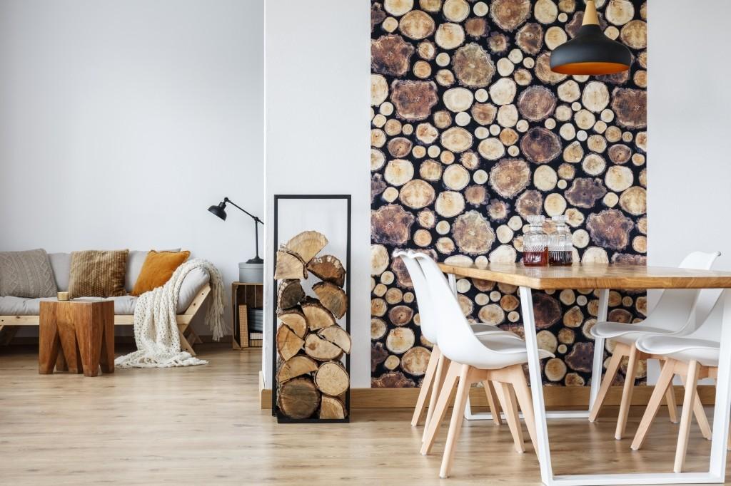 interieur met hout