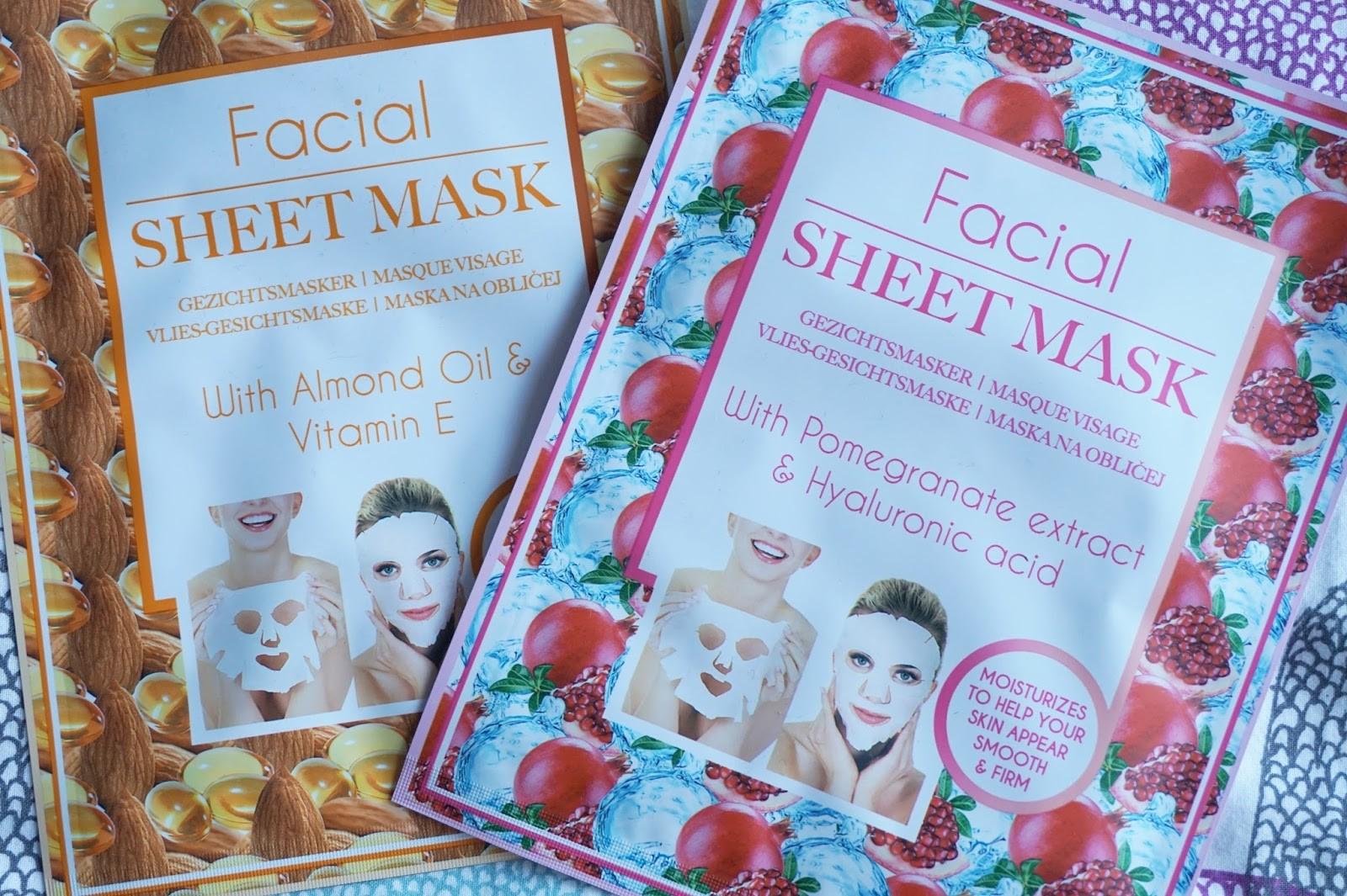 action facial sheet mask