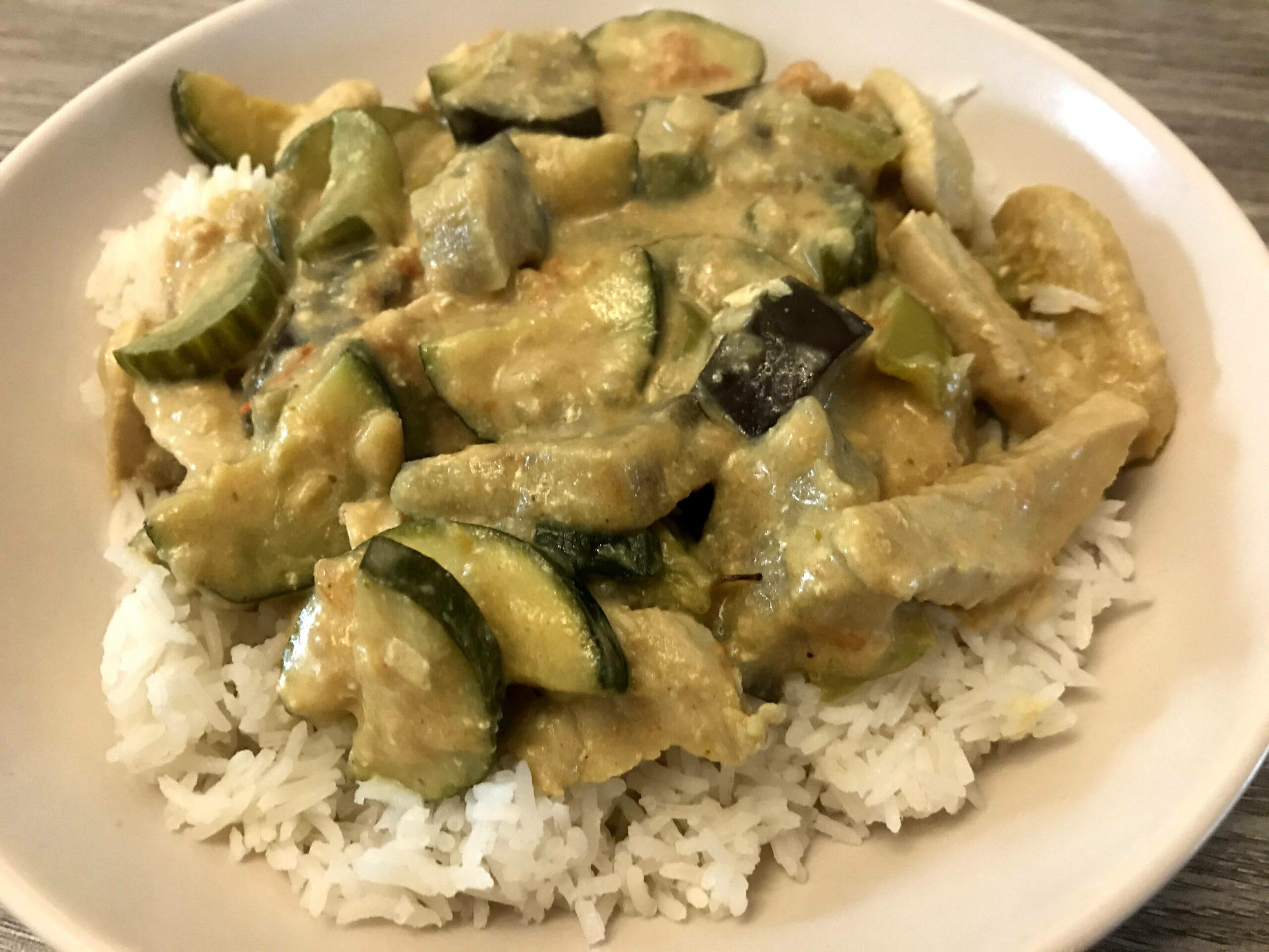 groene curry met kip en groenten