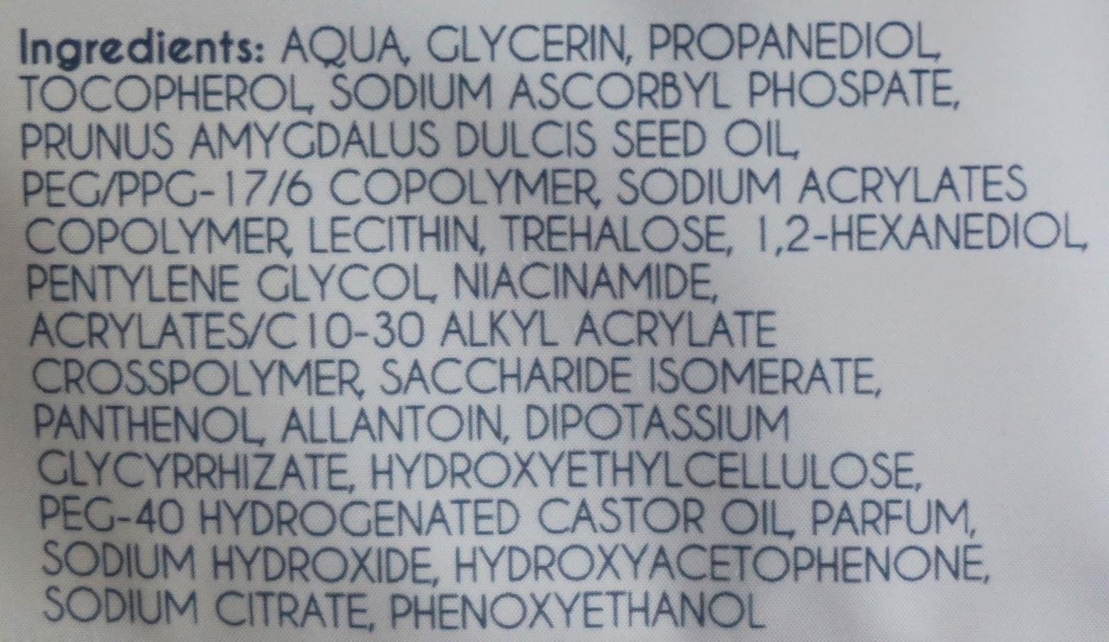ingrediënten action sheet mask
