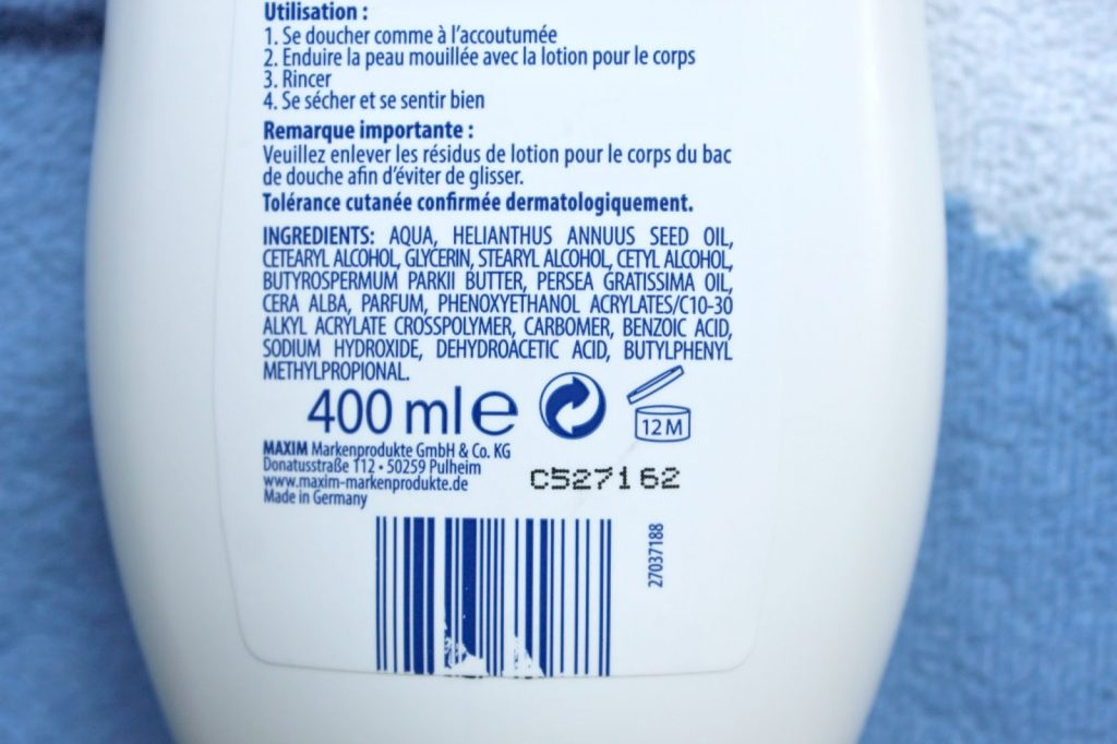 ingrediënten biocura bodylotion