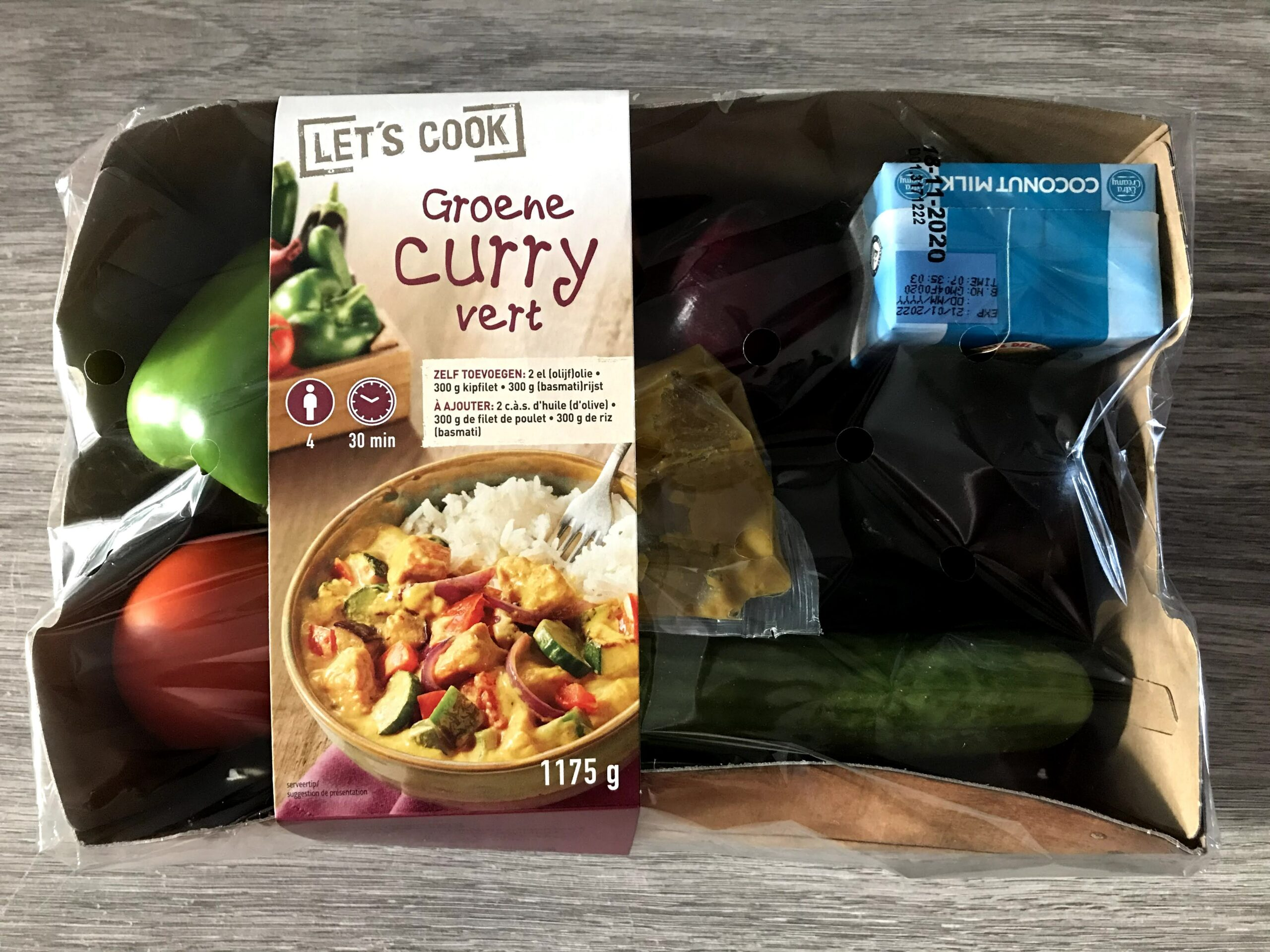 lidl verspakket groene curry
