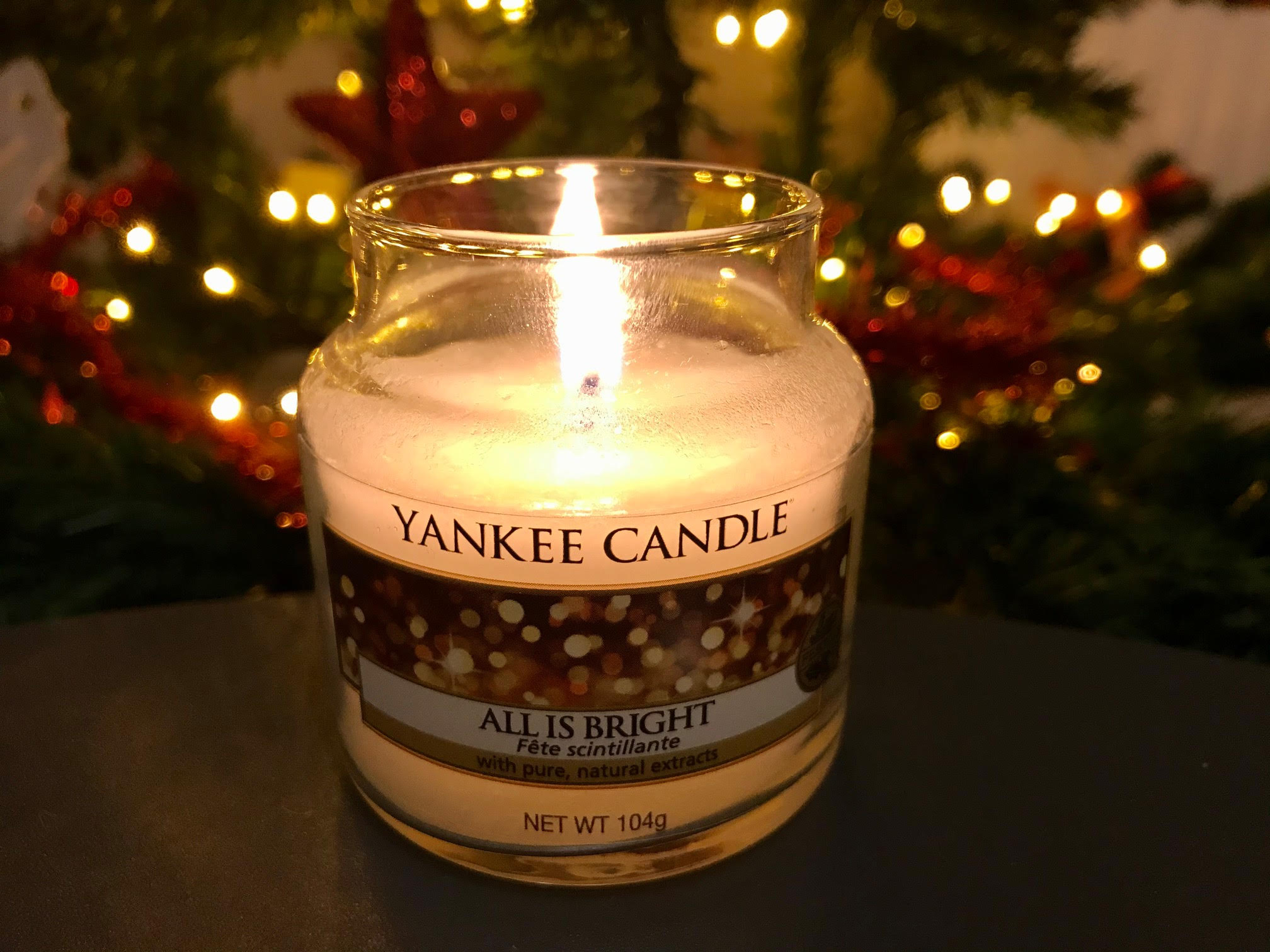yankee candle all is bright geurkaars