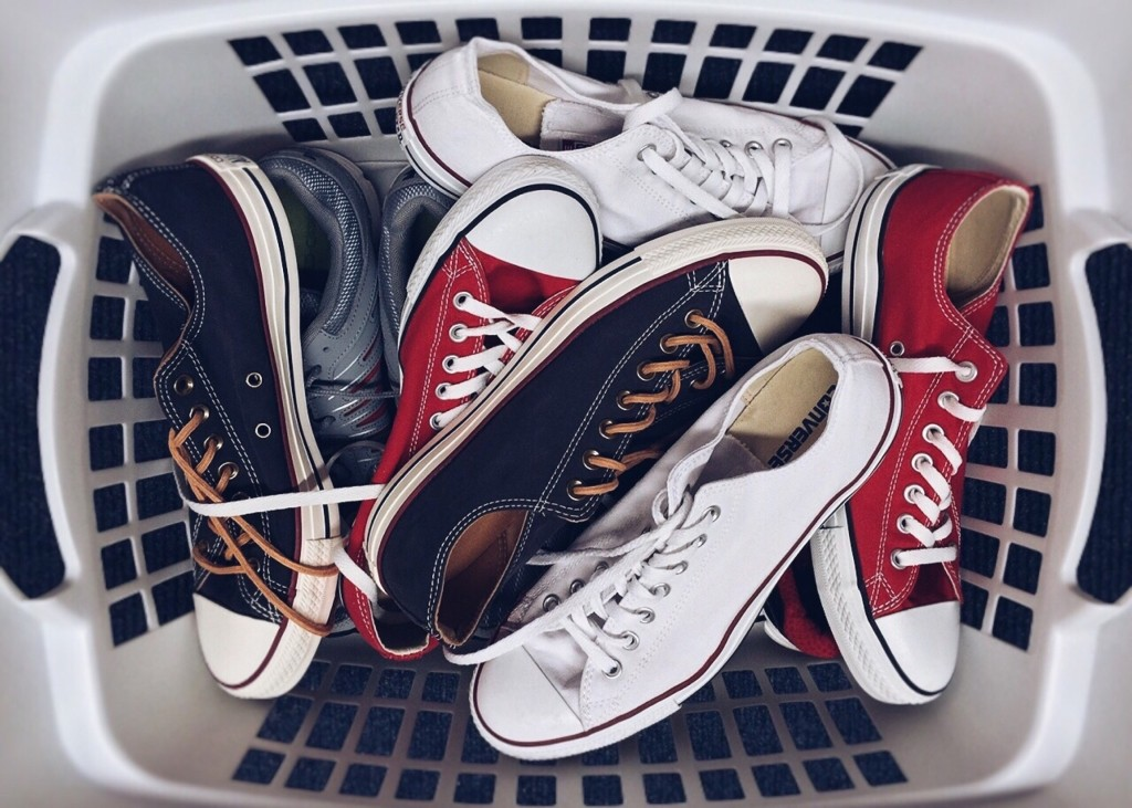 sneakers wasmachine