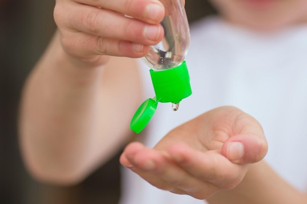 desinfecterende handgel gebruiken