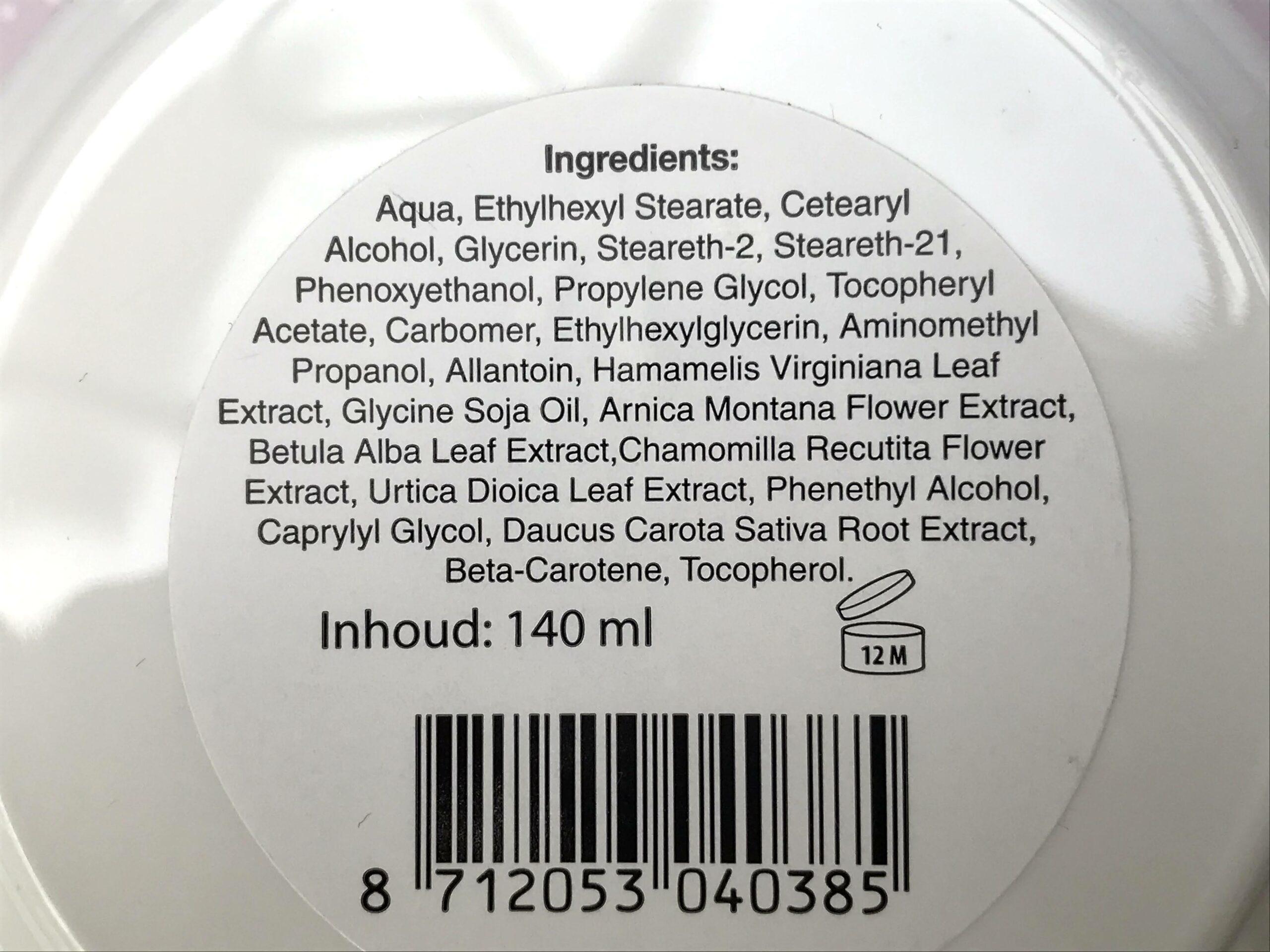 ingrediënten jacob hooy vitamine e crème