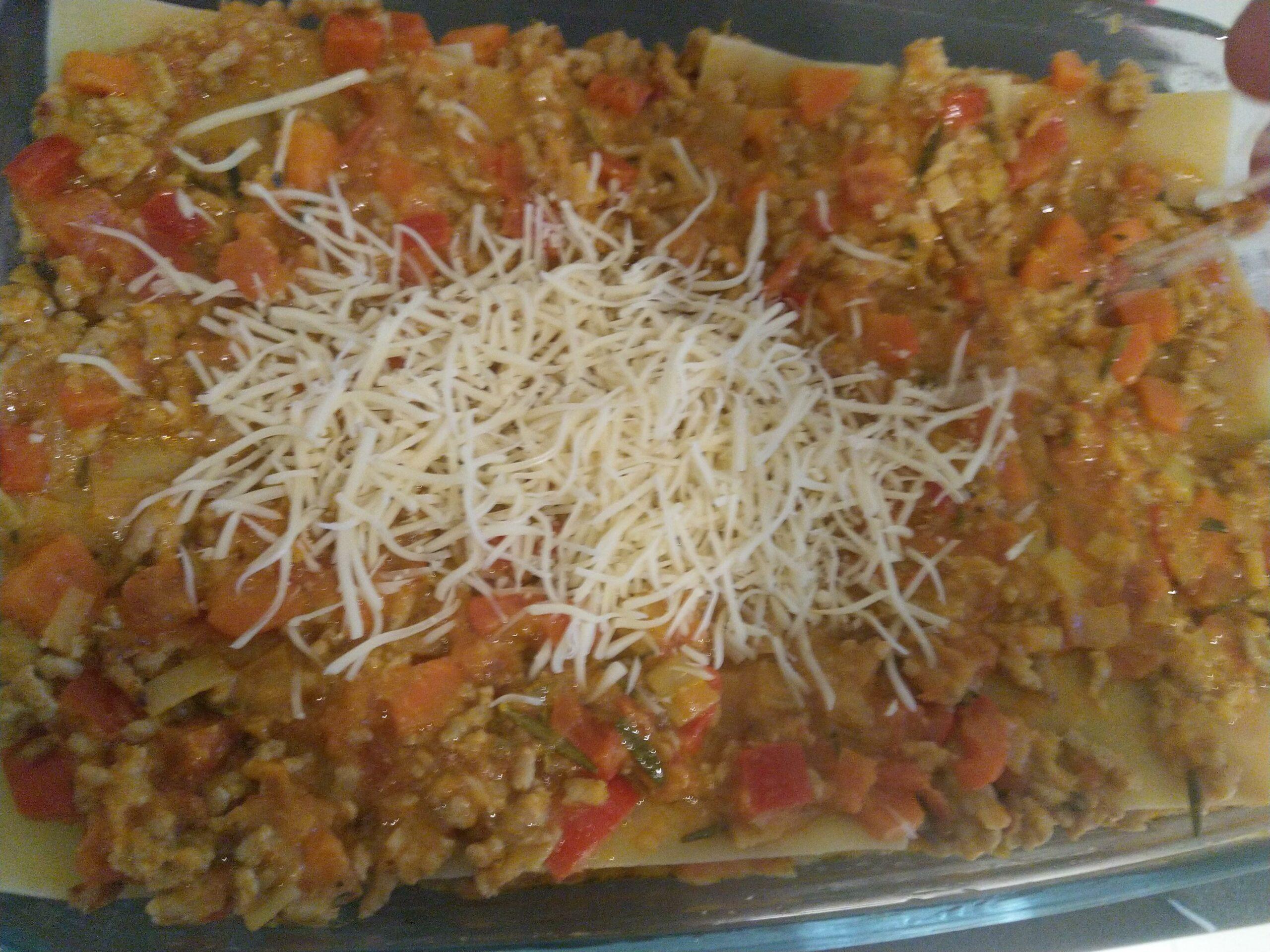 lasagne geraspte kaas