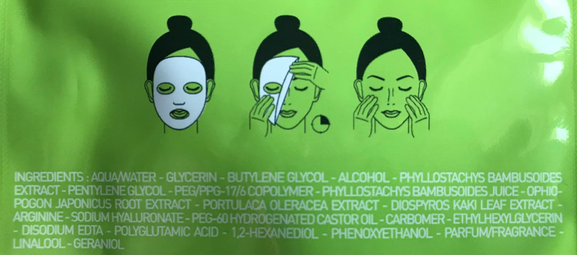 ingredienten bamboo shot mask