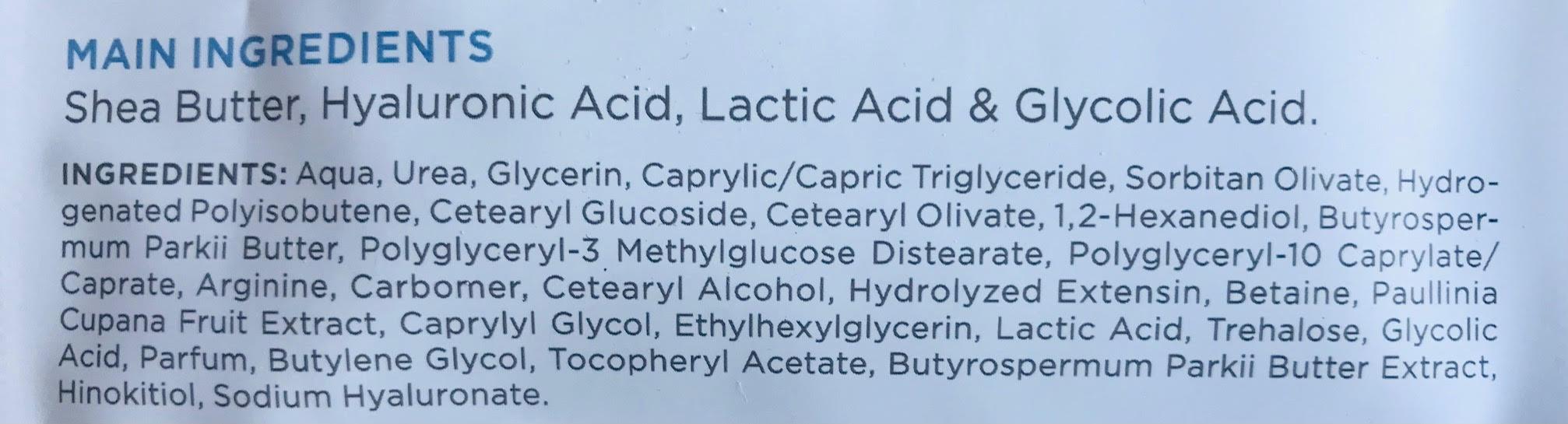 ingredienten ici paris xl voetmasker