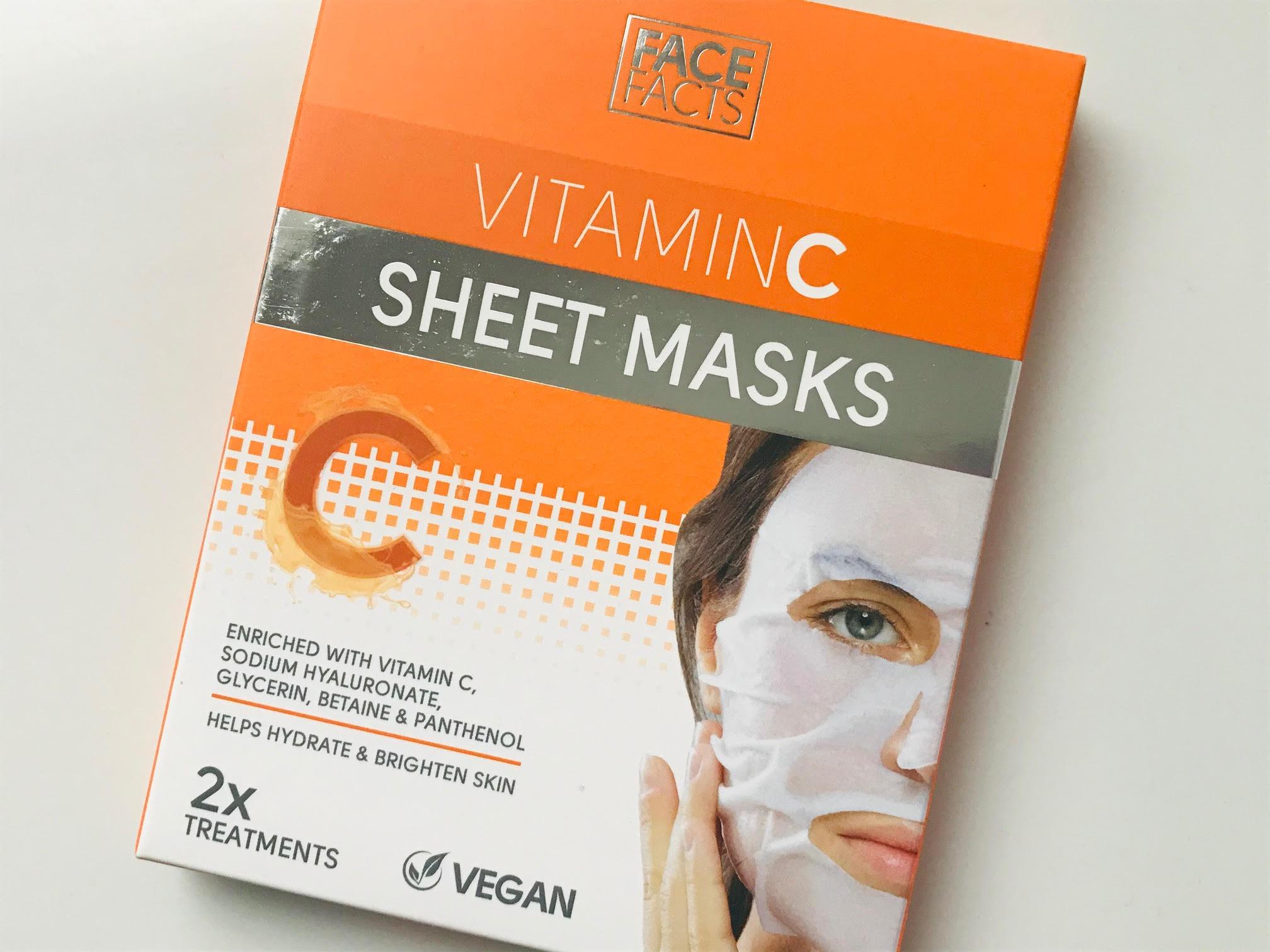 face facts vitamin c sheet mask