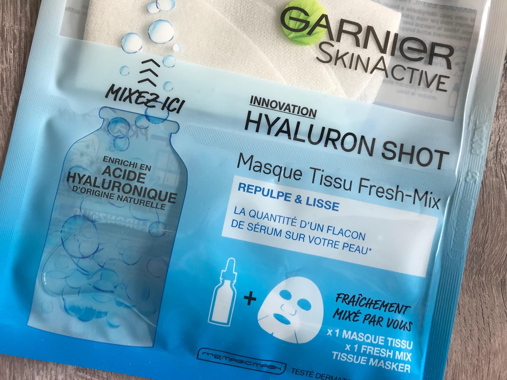 garnier freshmix hyaluron shot mask