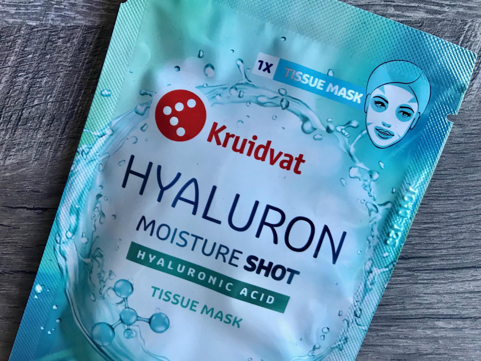 kruidvat hyaluron moisture shot tissue mask