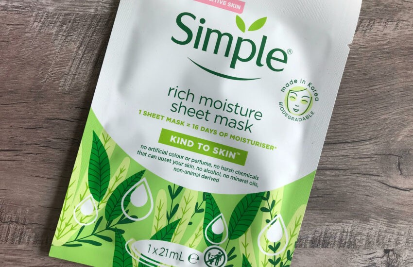 simple rich moisture sheet mask