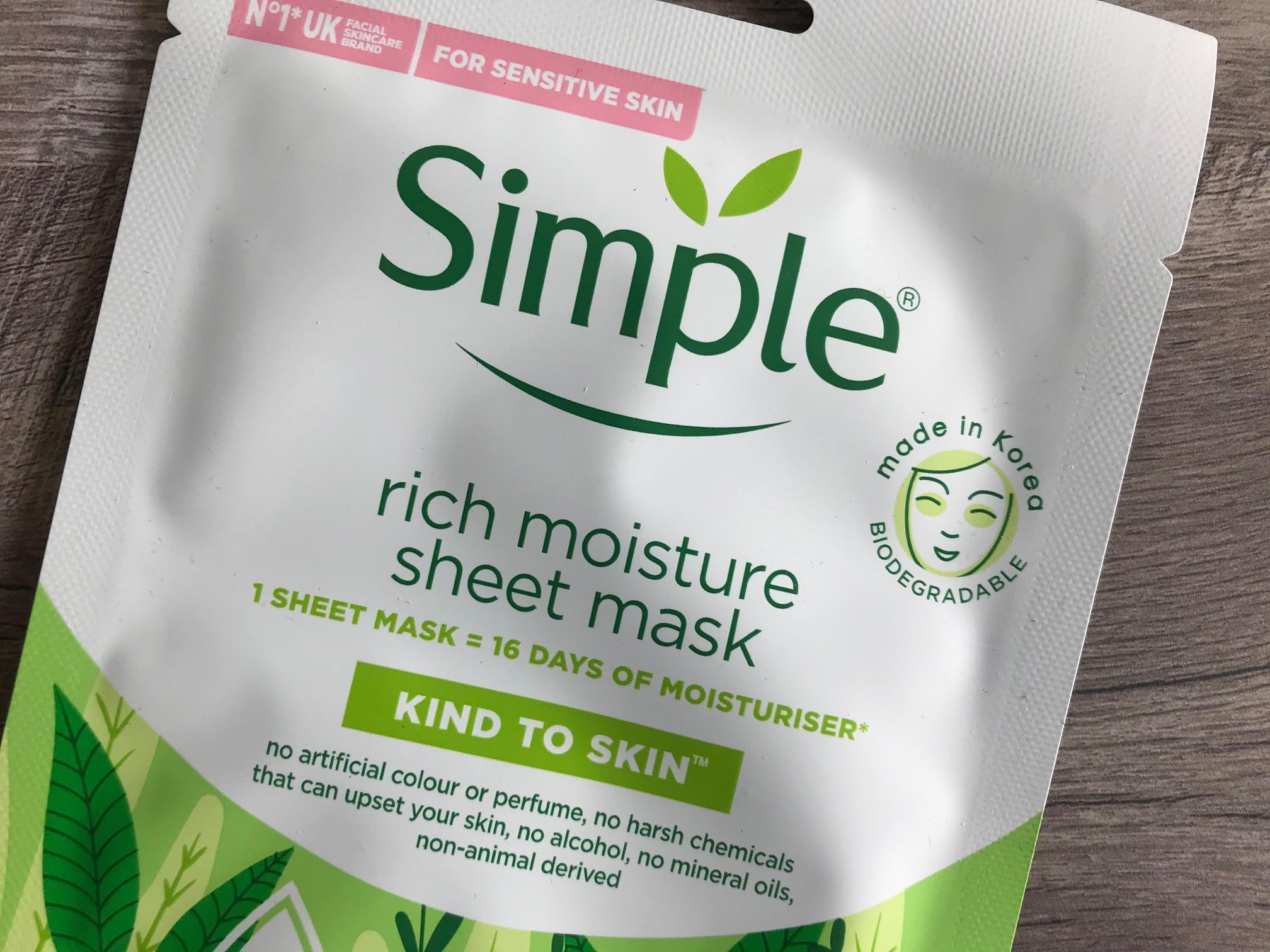 simple sheet mask