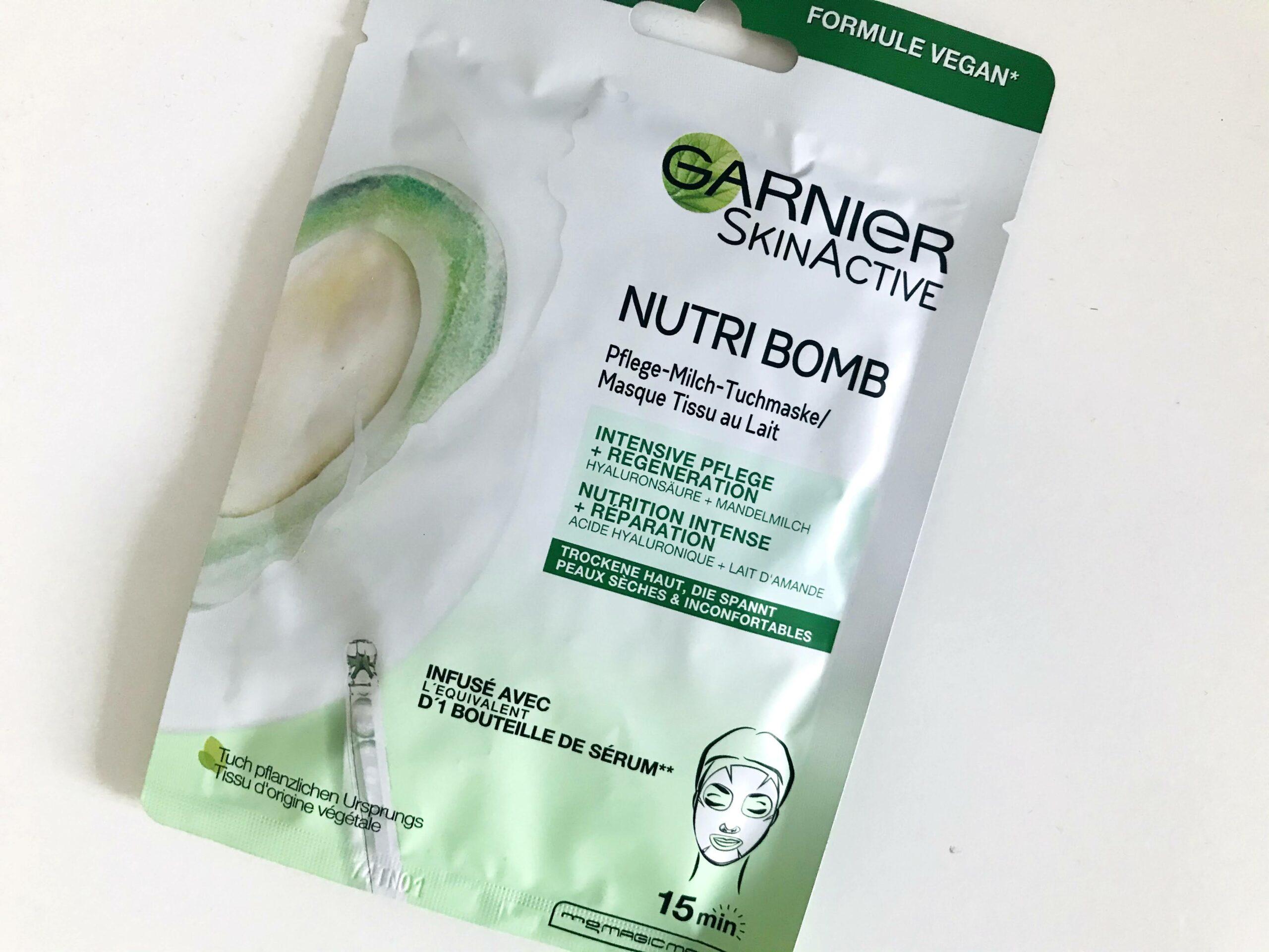 garnier nutri bomb tissuemasker amandel