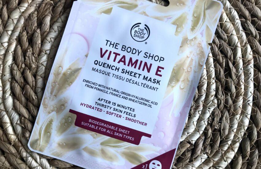 the body shop sheet mask vitamine E