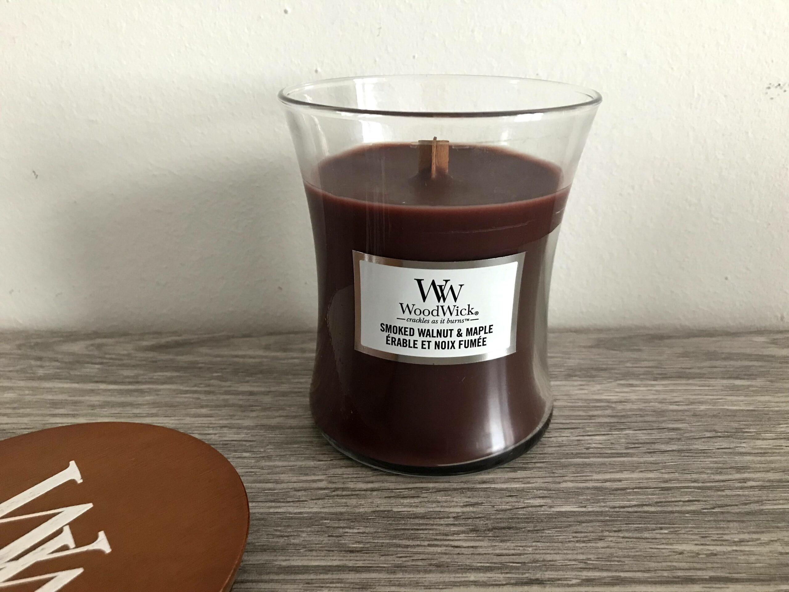 woodwick smoked walnut & maple