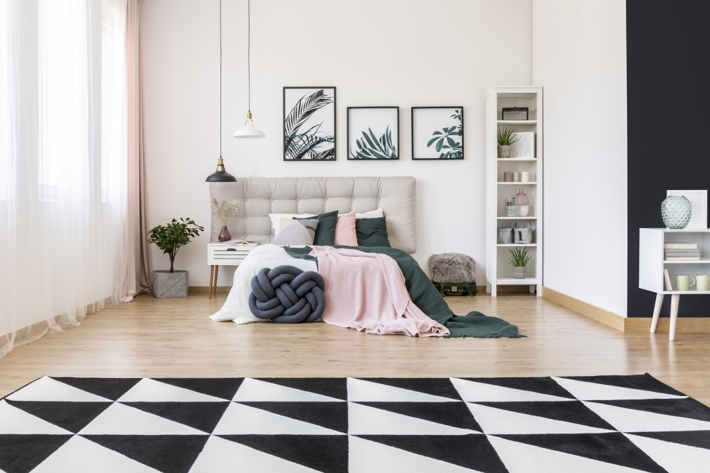 tapijt met geometrische vormen