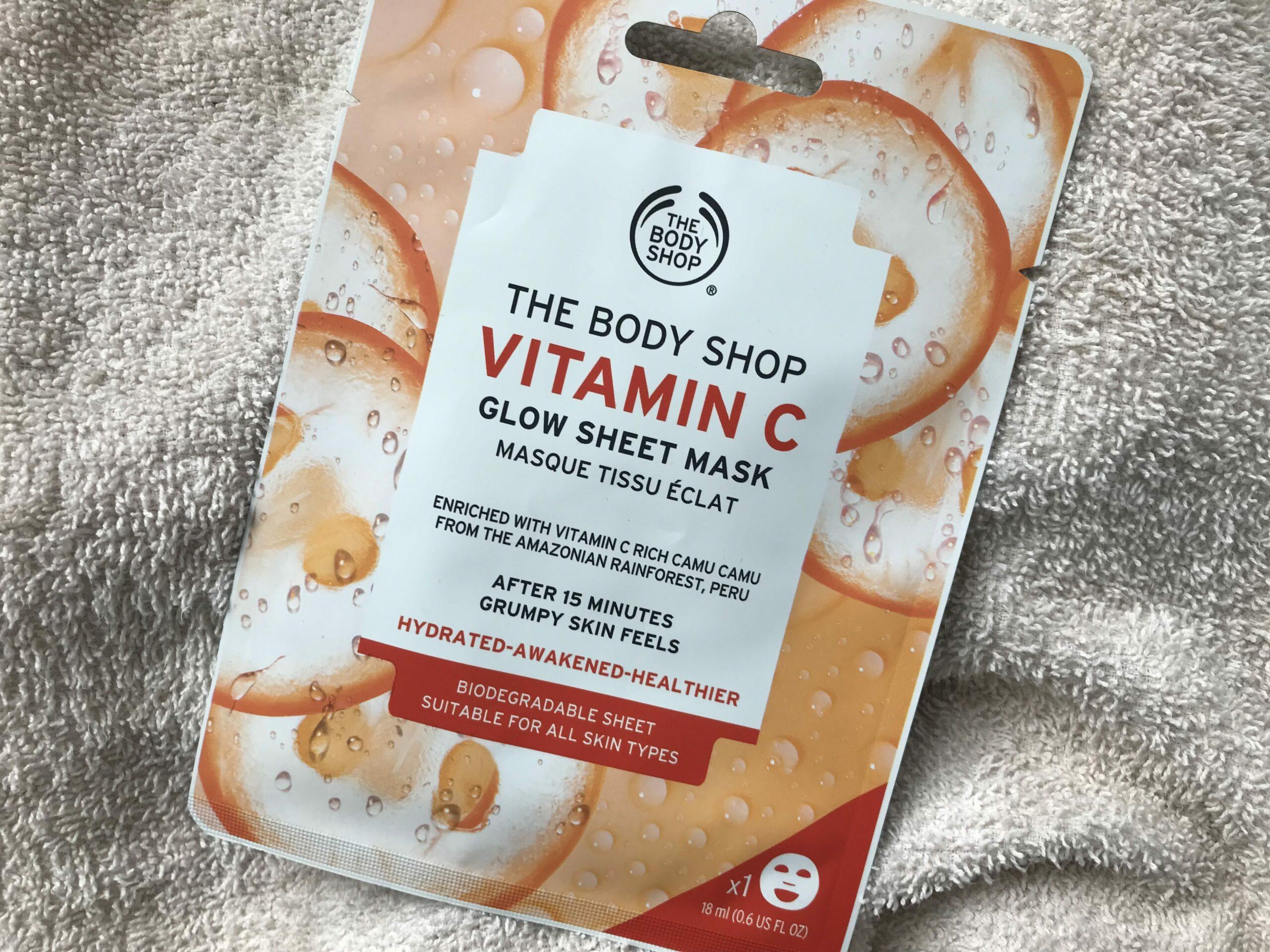 vitamin c glow sheet mask